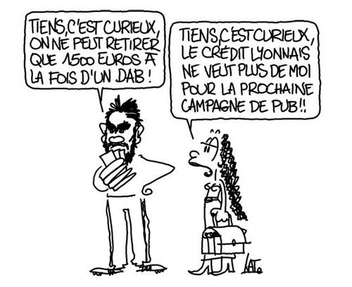 dessin du Net sur l'affaire Cantona.