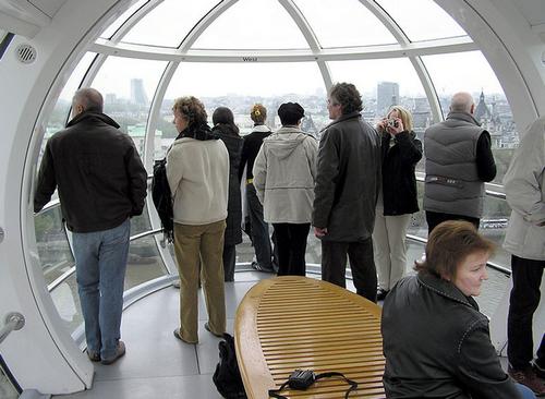 A bord du London Eye !