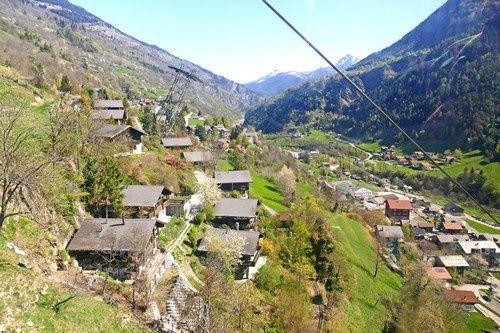 Prendre de la hauteur à Riederalp ( en Suisse )