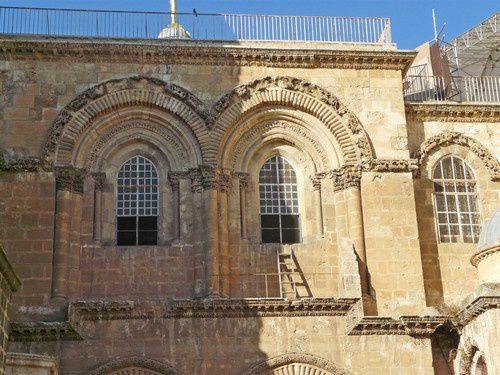 De la vieille ville de Jérusalem au Saint Sépulcre.