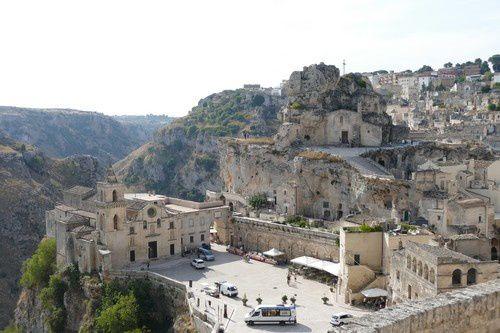 Etonnante ville de Matera.