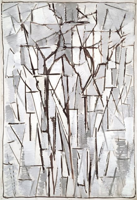Abstraction-Piet Mondrian-Composition Arbres II-1912,1913