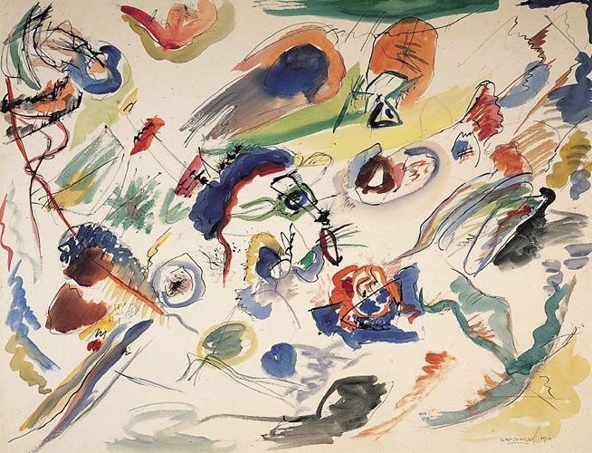 Abstraction V. Kandinsky - sans titre 1910-13
