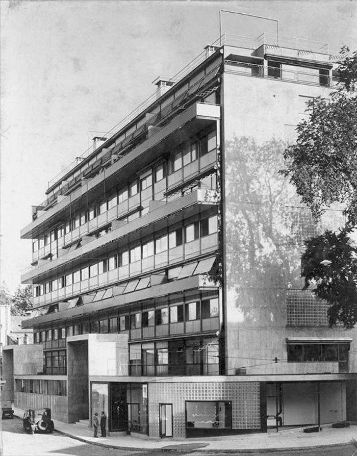 Immeuble la Clareté à Genève (en 1932 et au début du XXIème siècles)