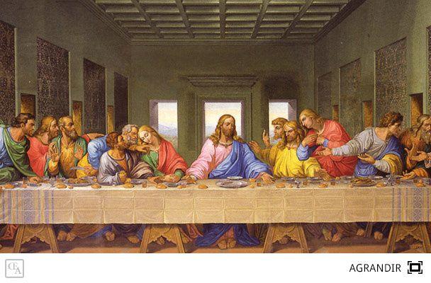La Cène - Léonard de Vinci - 4.6x8.8m - 1495-1498 -  Église Santa Maria delle Grazie de Milan.