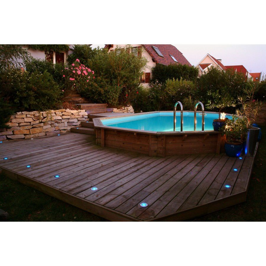 Piscine hors sol imitation bois for Piscine hors sol amenagee