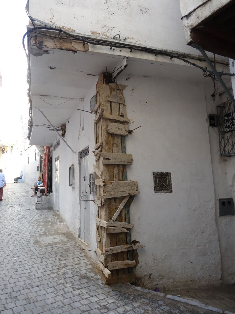 Chantier dans la Medina de Tanger