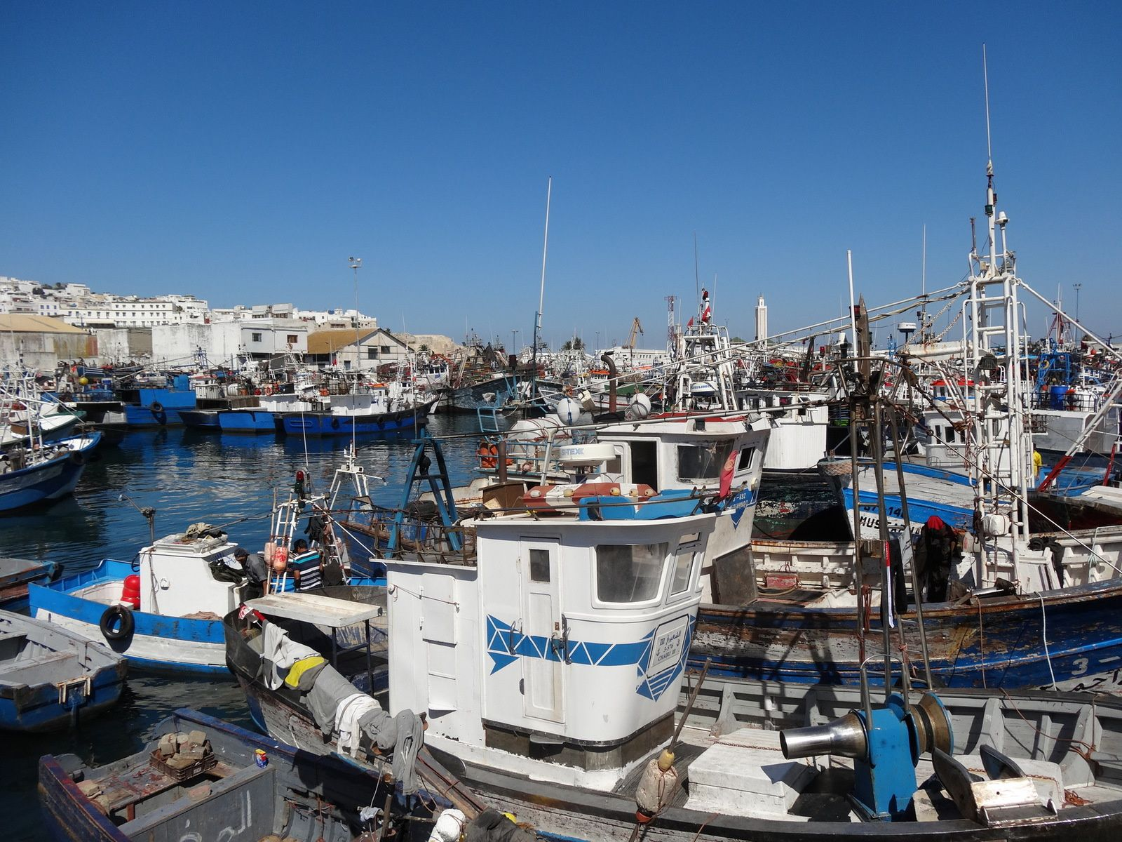 Le port de pêche de Tanger (pas encore déménagé au 20 septembre 2016)