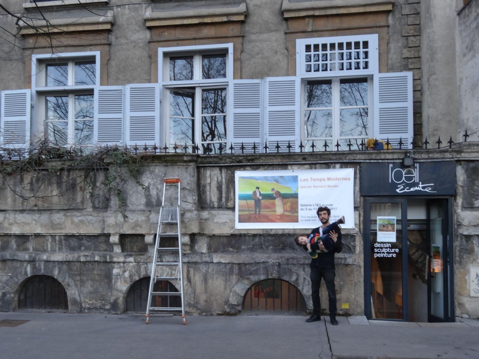L'exposition &quot&#x3B;les Temps Modernes&quot&#x3B; est en place à la Galerie l'Oeil écoute pour le vernissage du 2 février à 18h30