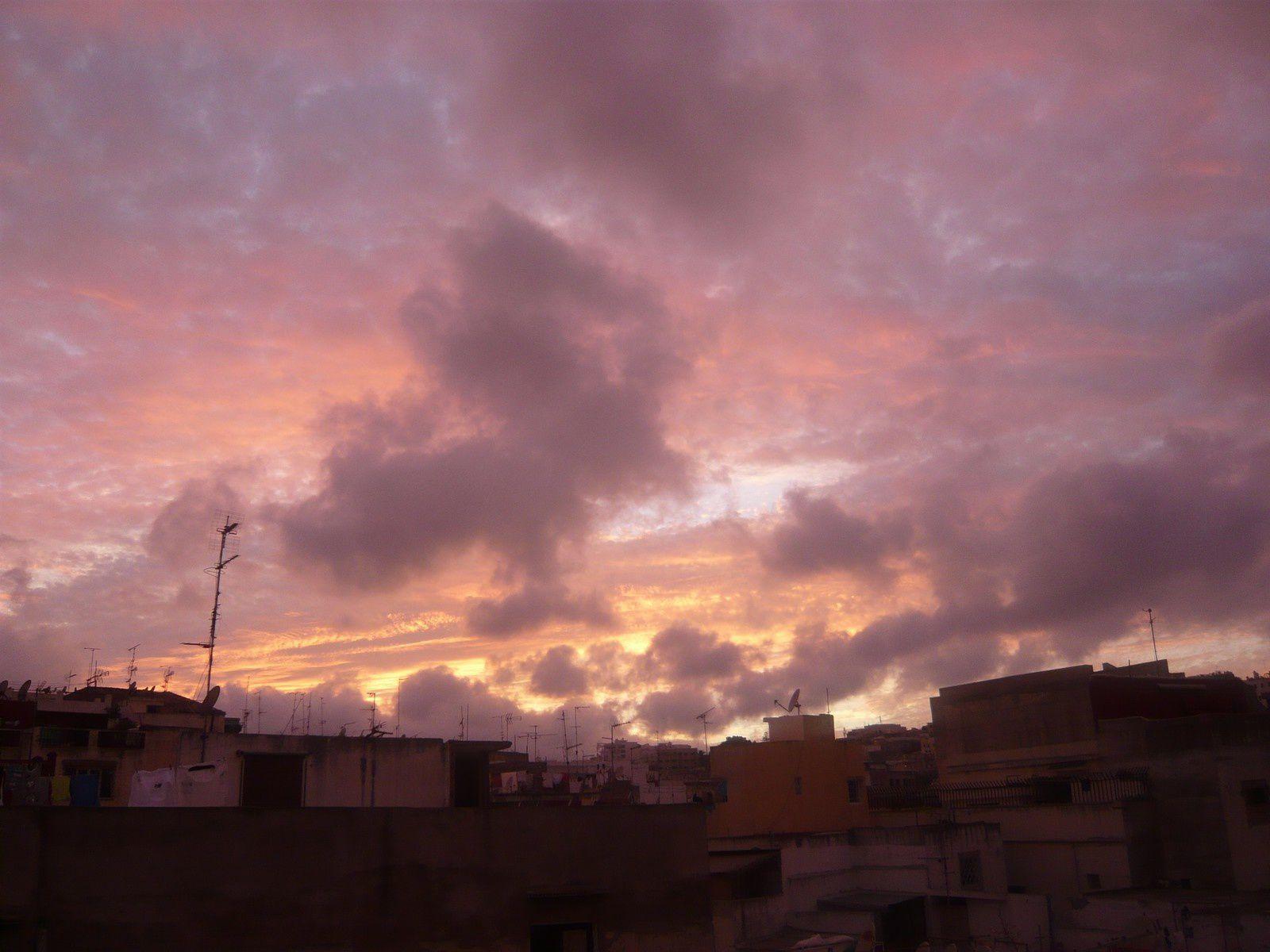 Ciel de Tanger sur la Médina