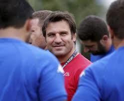 Fabrice Landreau parmi ses hommes