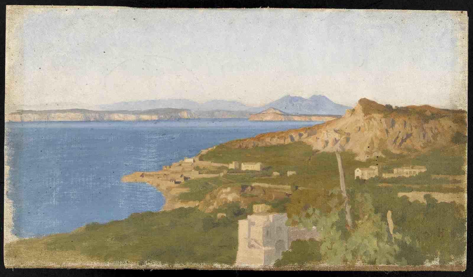 Ischia, côte escarpée/Paris, musée national Ernest Hébert/RMN