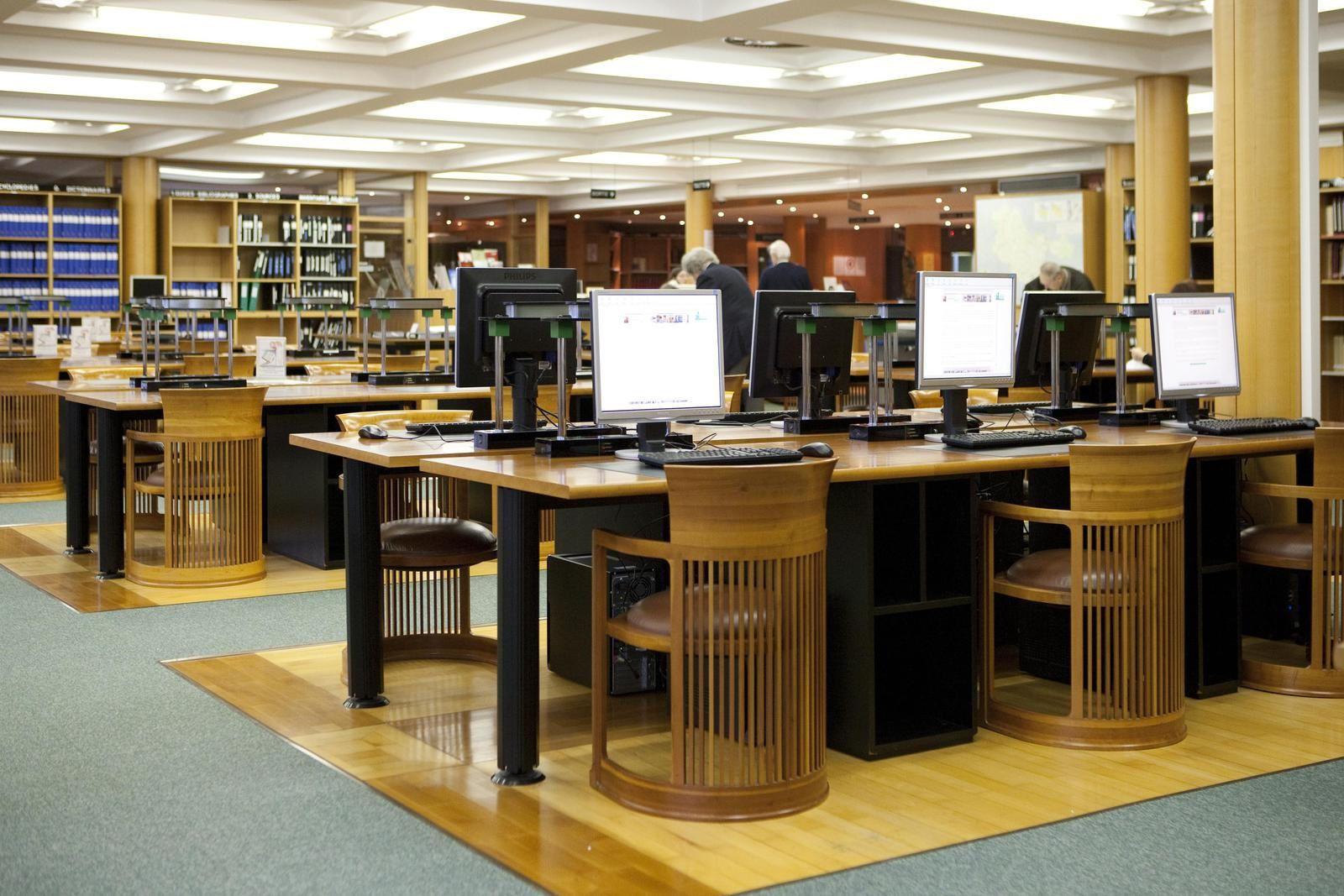 La salle de lecture des Archives départementales