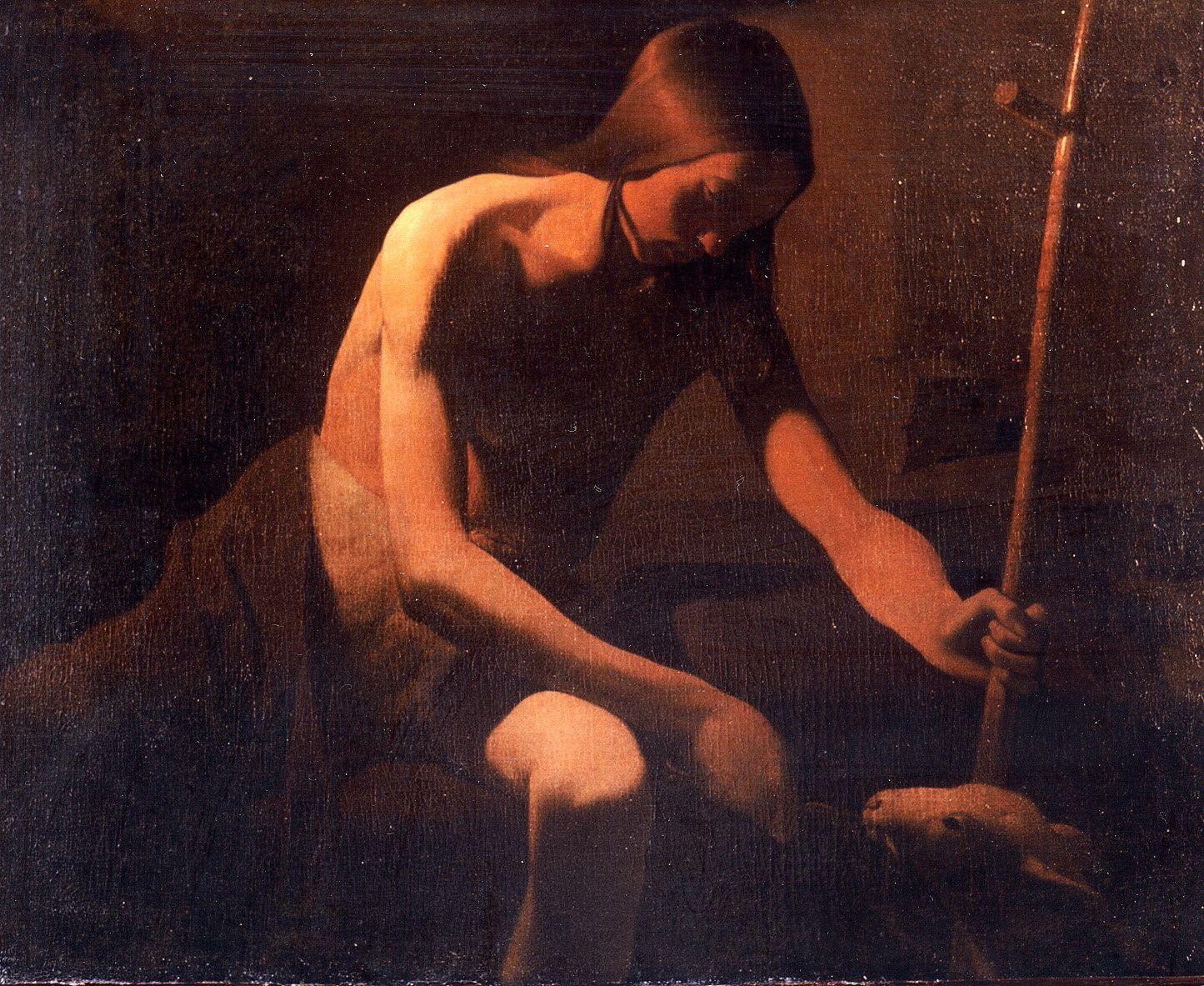 """""""Saint Jean-Baptiste dans le Désert """" de Georges de La Tour - Musée départemental Georges de La Tour à Vic-sur-Seille"""