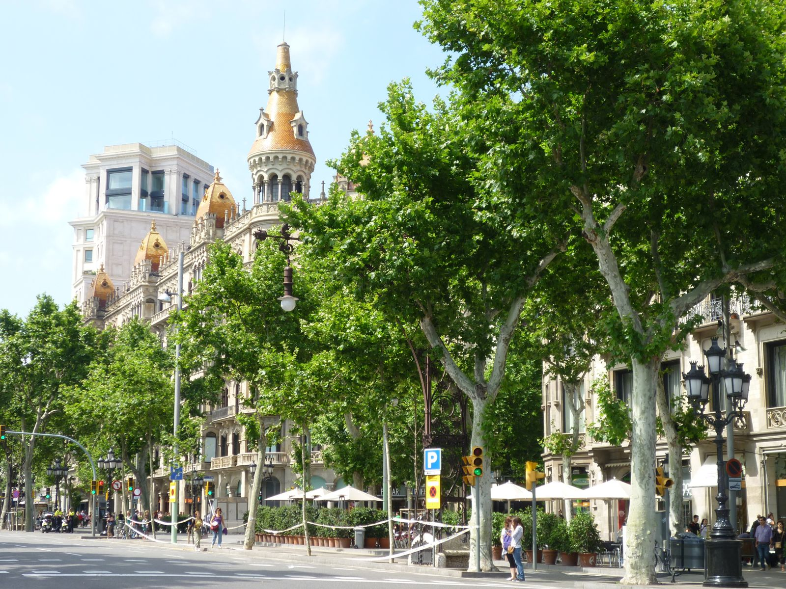 Barcelone, place de Catalogne.