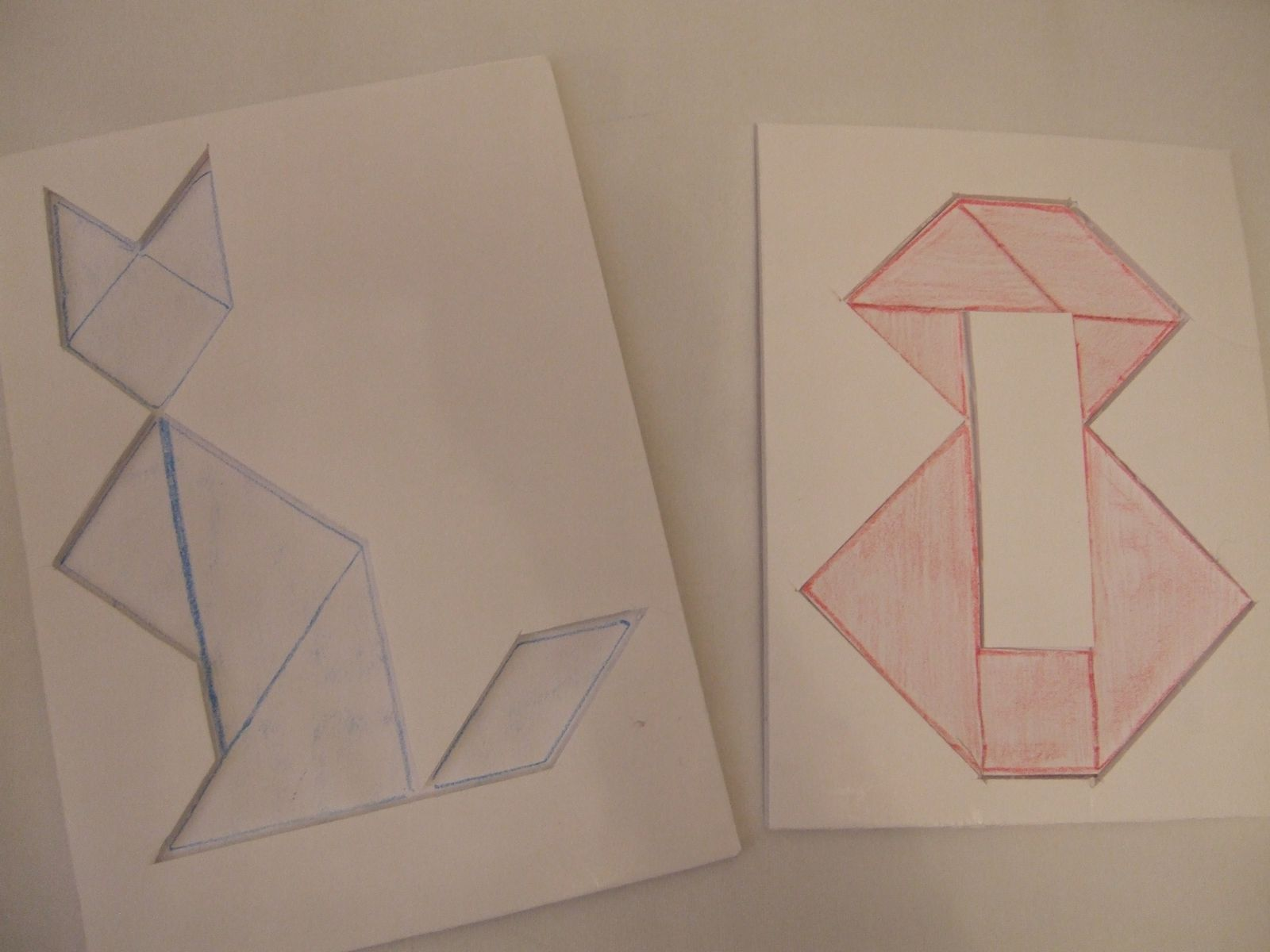 tangrams type puzzle-cadre