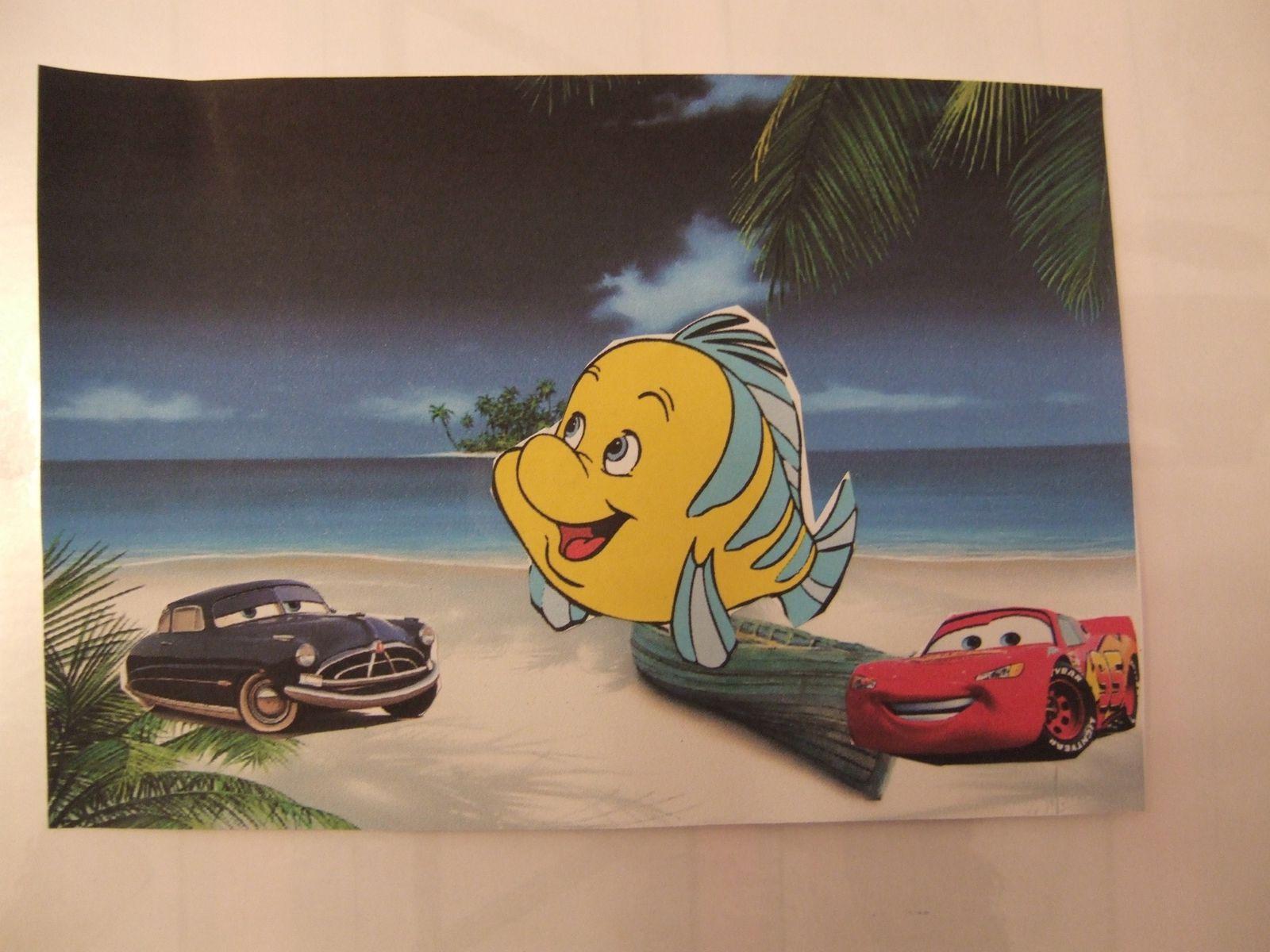 Cars et Sherrif à la plage