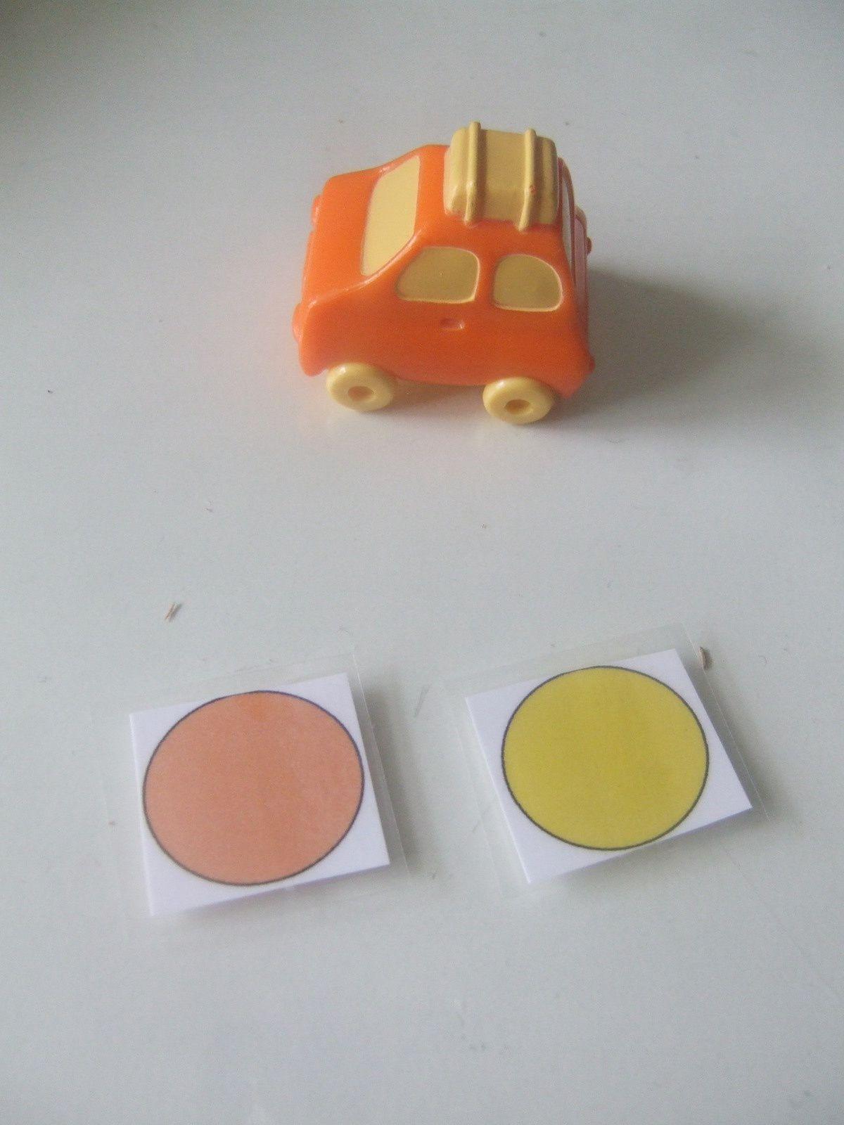discrimination visuelle : trouver et nommer les différentes couleurs d'un seul objet