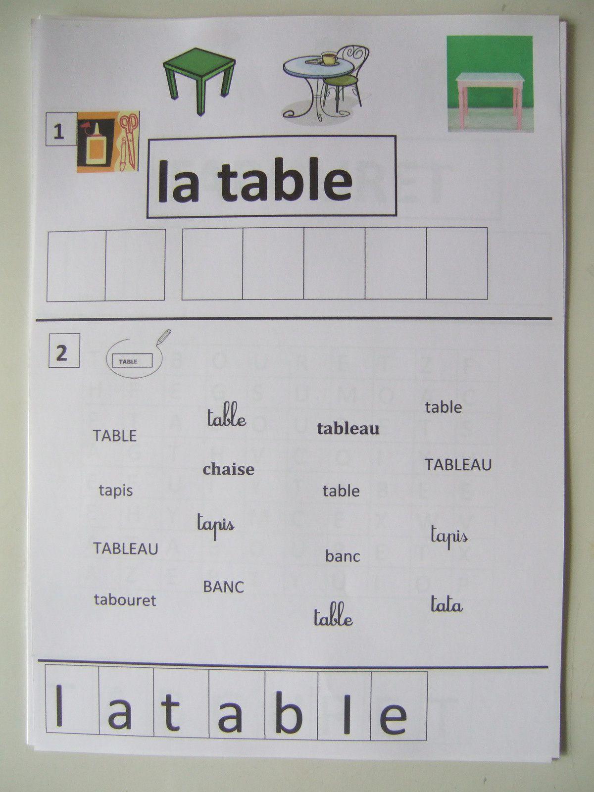 vocabulaire des  meubles ou apprendre du vocabulaire sans en avoir l'air