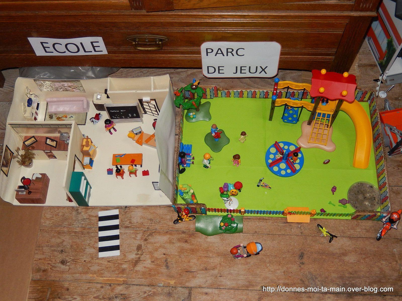 comment faire une maison playmobil en carton simple with. Black Bedroom Furniture Sets. Home Design Ideas
