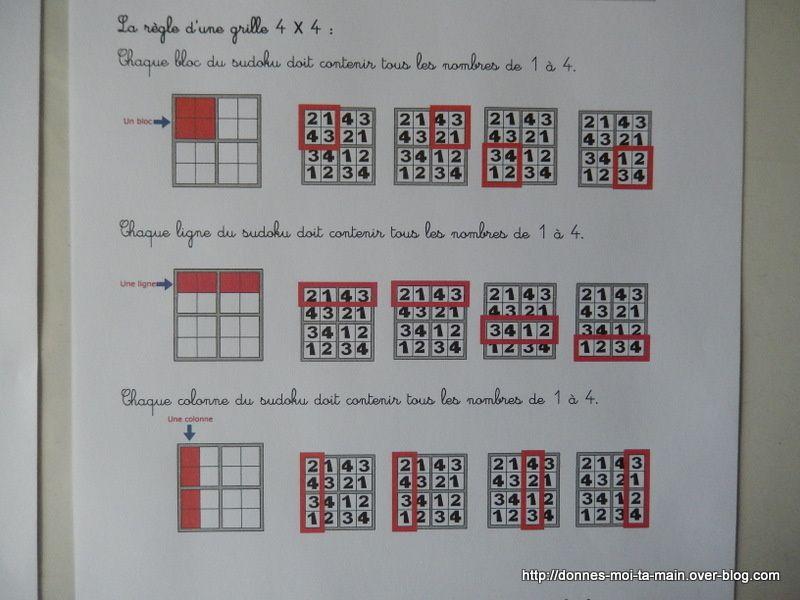 sudoku : règle du jeu &quot&#x3B;disséquée&quot&#x3B; !