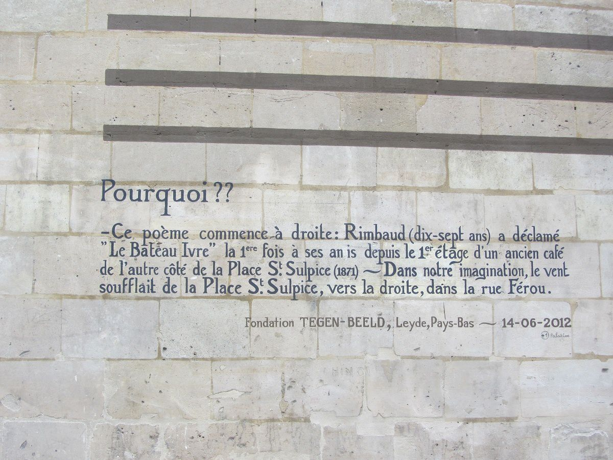 """Lire sur les murs de Paris """" Le bâteau ivre"""" de Rimbaud"""""""