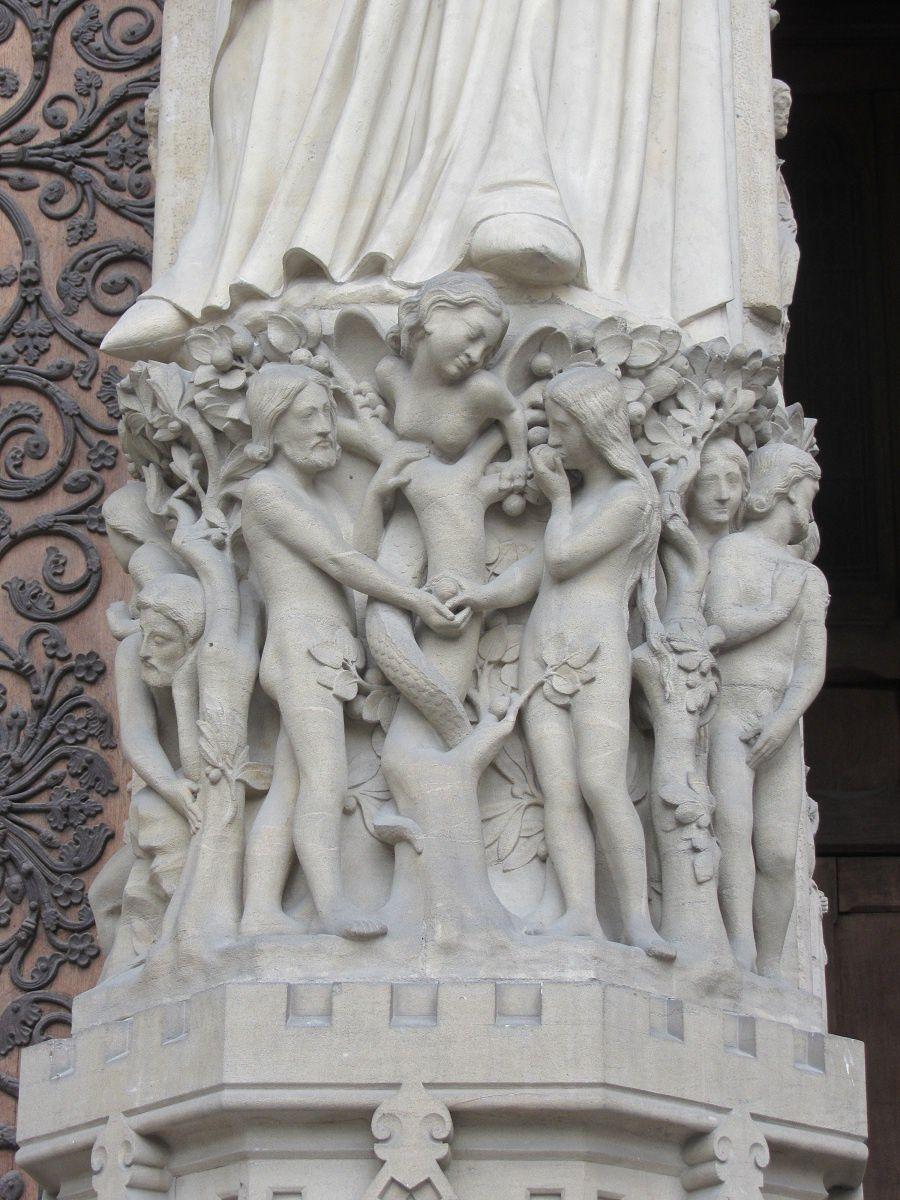 Ici c'est Adam et Eve qui sont représentés au jardin de l'Eden.