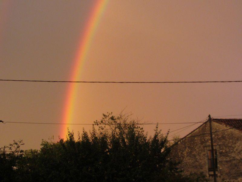 La lumière était incroyable, virant du jaune au rose. Et le ciel était partagé en deux zones l'une foncée l'autre claire.