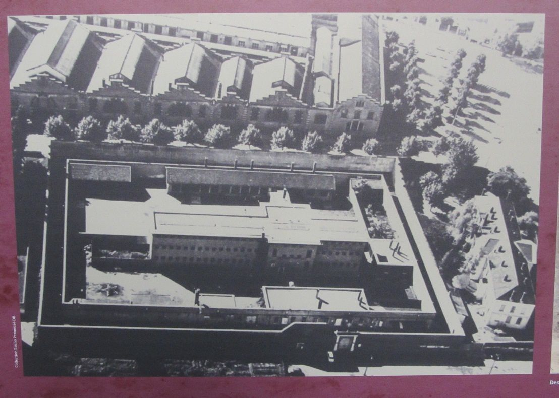 Elle a été construite en 1921, elle se trouve dans le 3éme arrondissement de Lyon, près du fort de Montluc et l'on fait souvent l'amalgame, alors que les deux constructions sont indépendantes et n'ont pas la même fonction