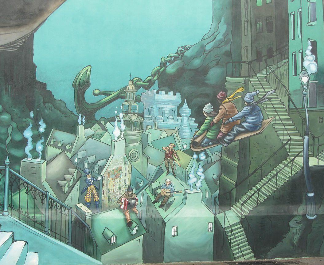 Une ville à jeté l'ancre dans les profondeurs.