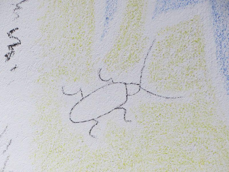 Et le grillon symbole de vie éternelle que l'on retrouve aussi bien sur les fresques.....