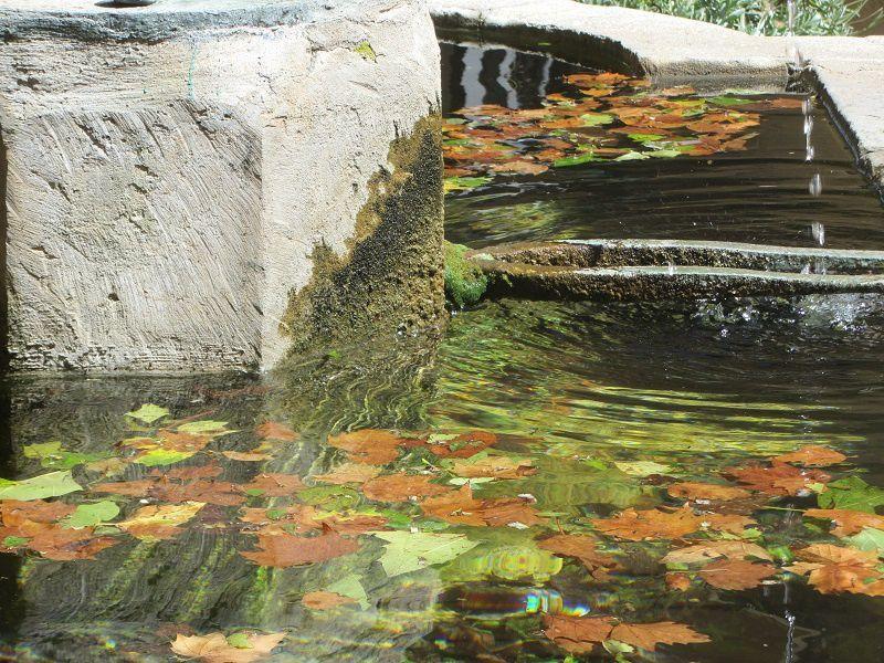 L'eau de la fontaine qui chante
