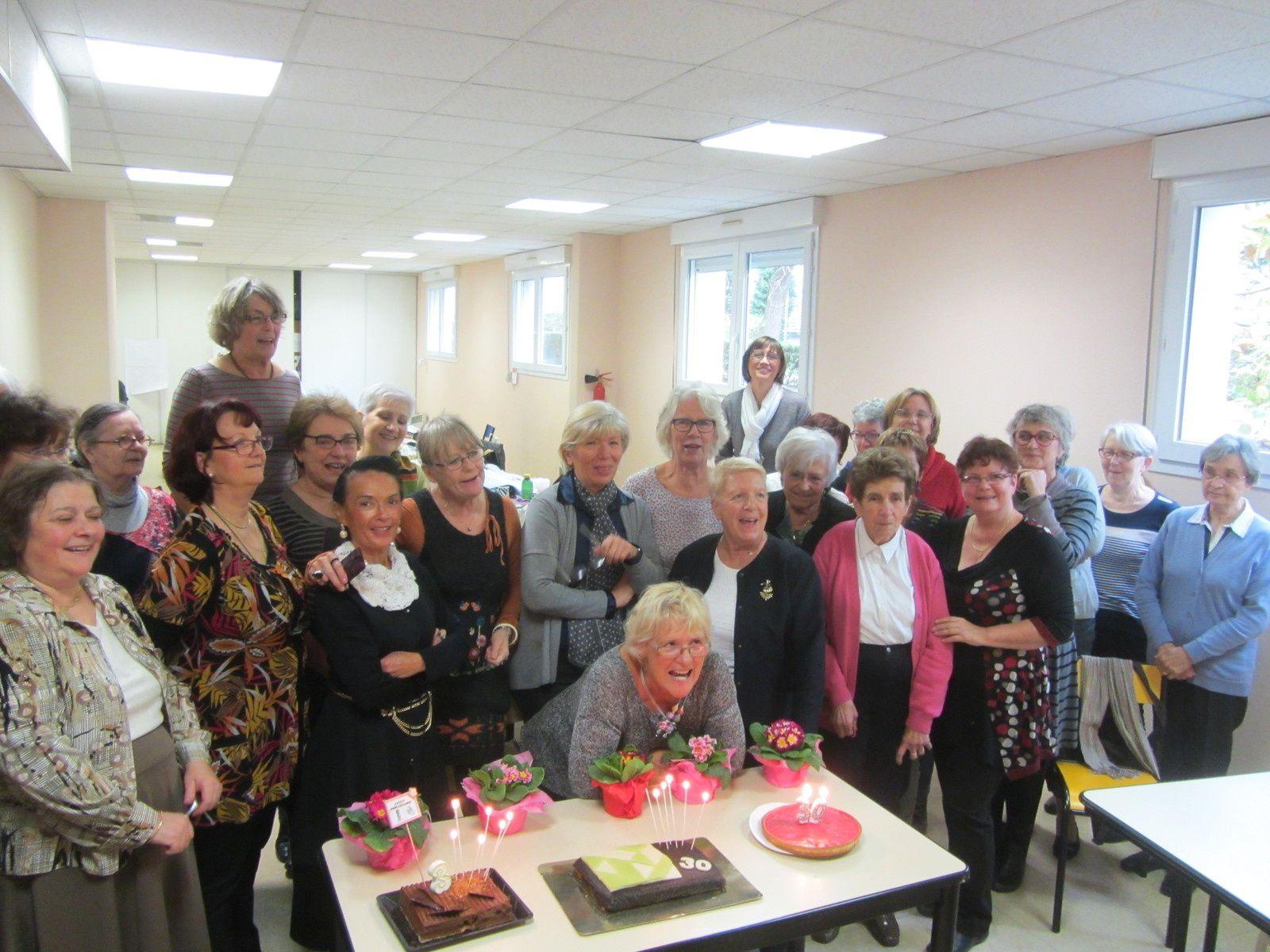 Nous étions très nombreuses pour fêter l'anniversaire des 30 ans de France patchwork.