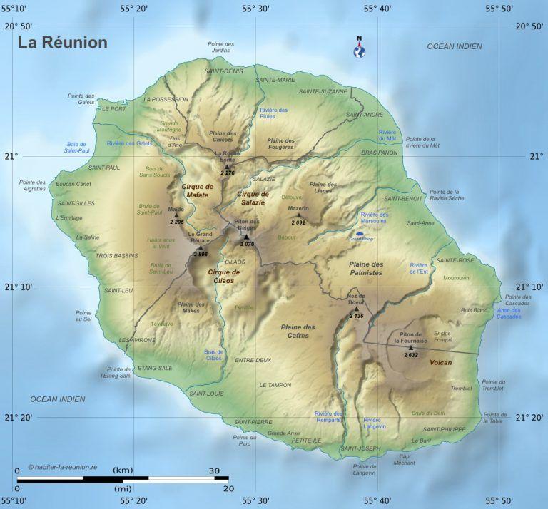 carte de l'île intense