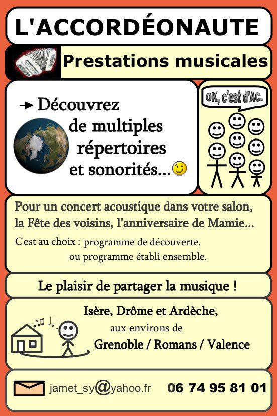 L'Accordéonaute : Prestations musicales diverses, tous styles musicaux