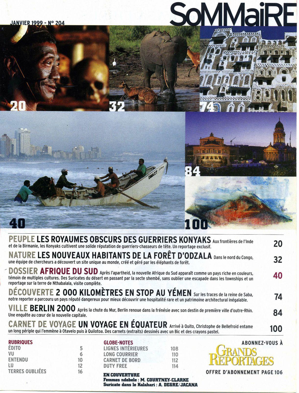 """1999 - Parution YEMEN dans """"GRANDS REPORTAGES"""""""