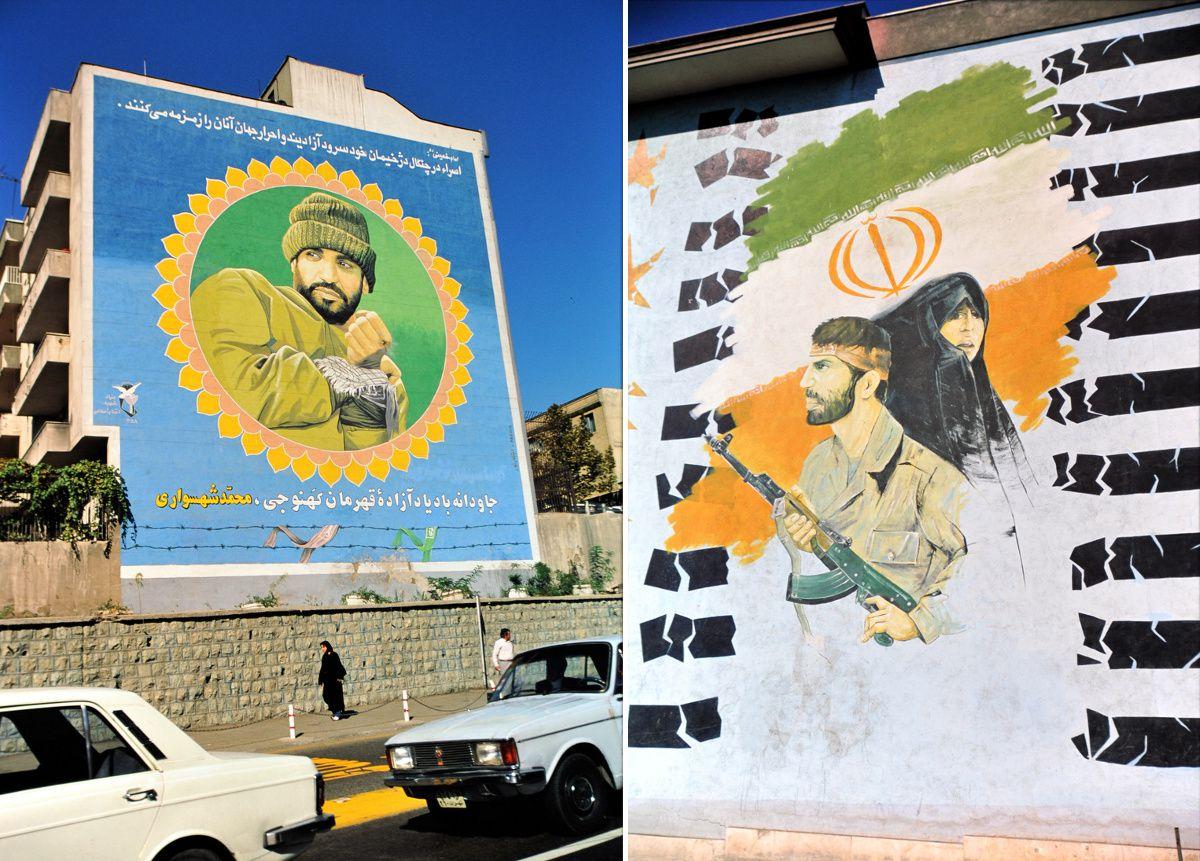 """""""Même dans les griffes de l'ennemi, les prisonniers chantonnent en eux l'hymne de la liberté et de la paix dans le monde. Reste à jamais la mémoire du héros Kahnouji Mohammad Shahsavari. », Le Guide Suprême Ayatollah Khomeiny."""