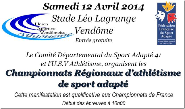Championnats régionaux d'athlétisme de sport adapté
