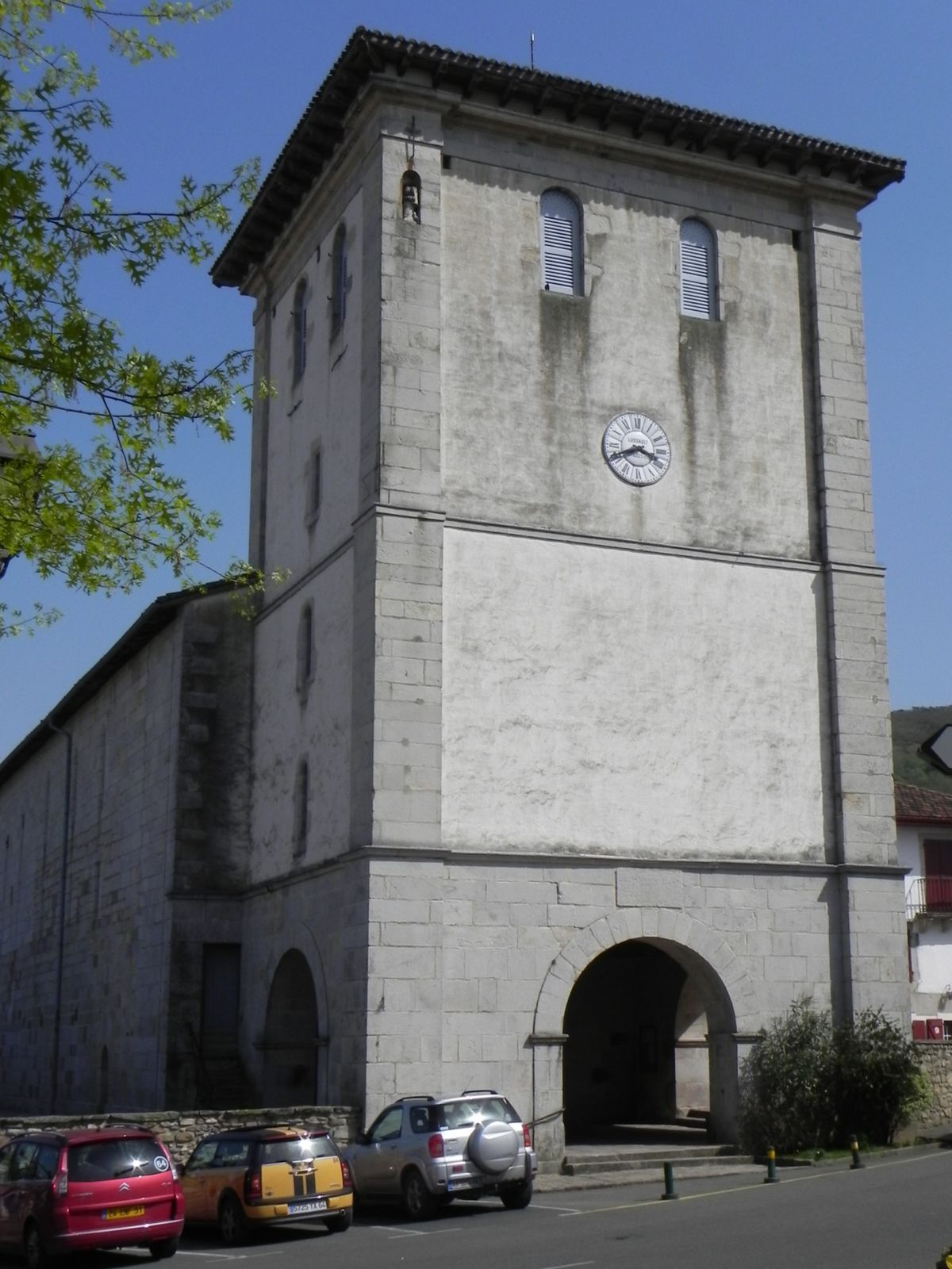 Clocher-tour d'Ascain (64)
