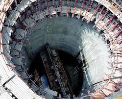 Le puits de Sangatte, en construction (tunnel sous la Manche (internet)
