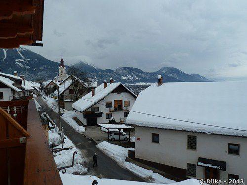 Vues depuis le balcon de notre auberge