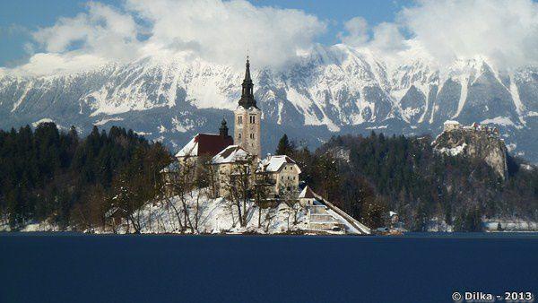 Le tour du lac de Bled