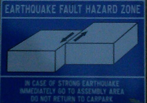 En cas de tremblement de terre, ne retournez pas au parking...
