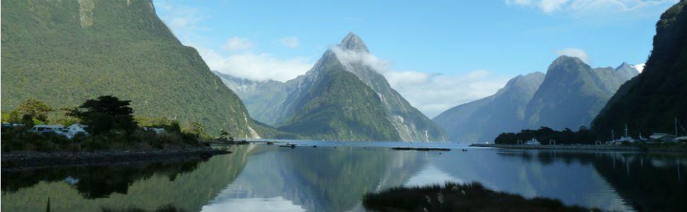 Milford Sound dans le Fiordland National Park en Nouvelle Zélande