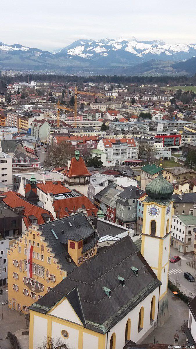 Vue sur Kufstein depuis le château