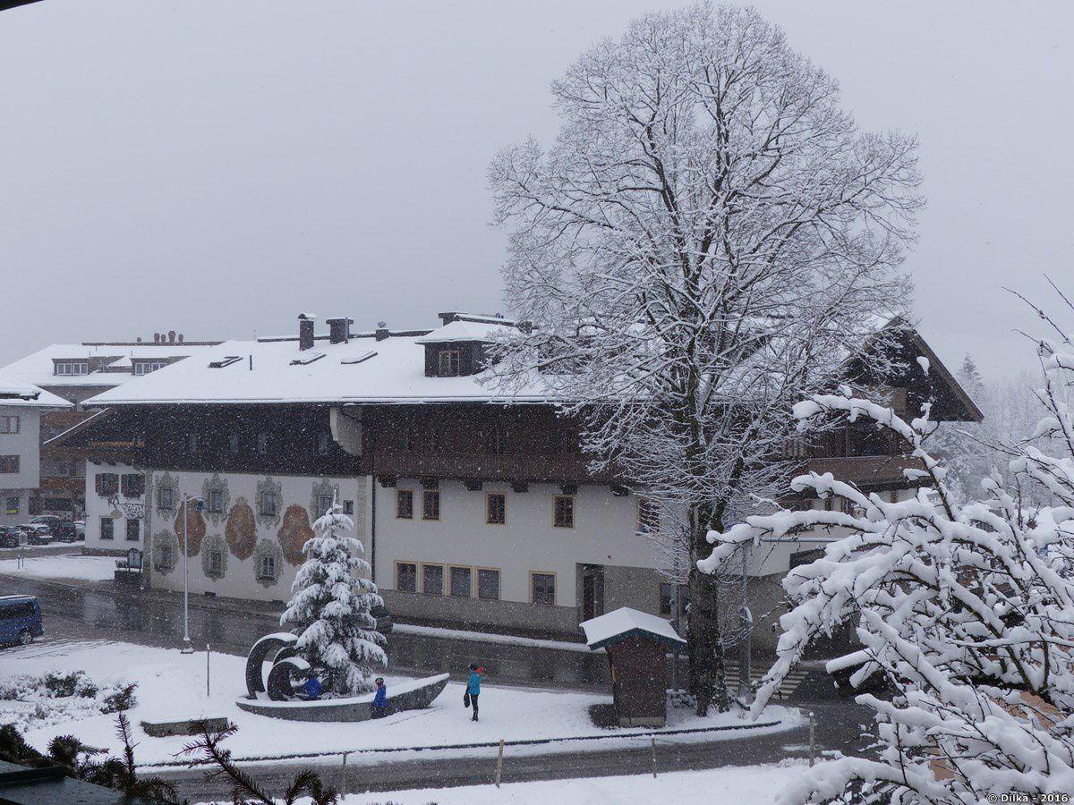 L'auberge Walchseer Hof vue de notre chambre