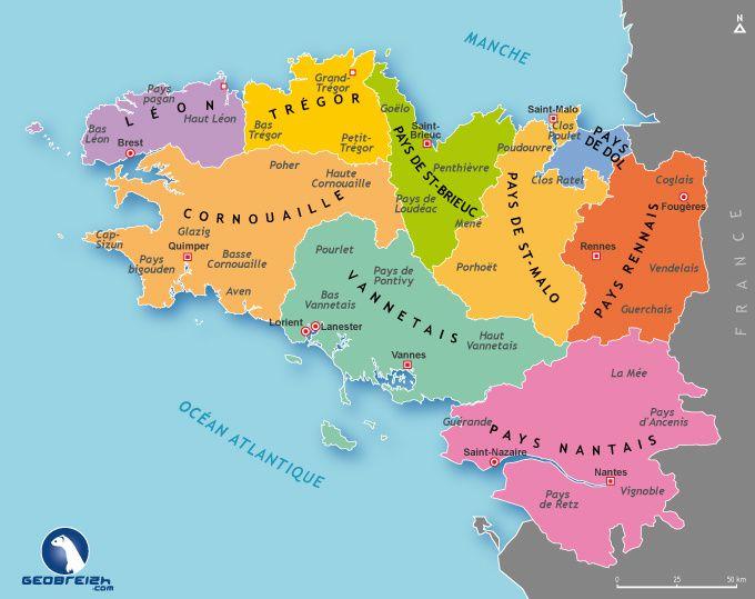 La Cornouaille fait partie du département du Finistère (29)