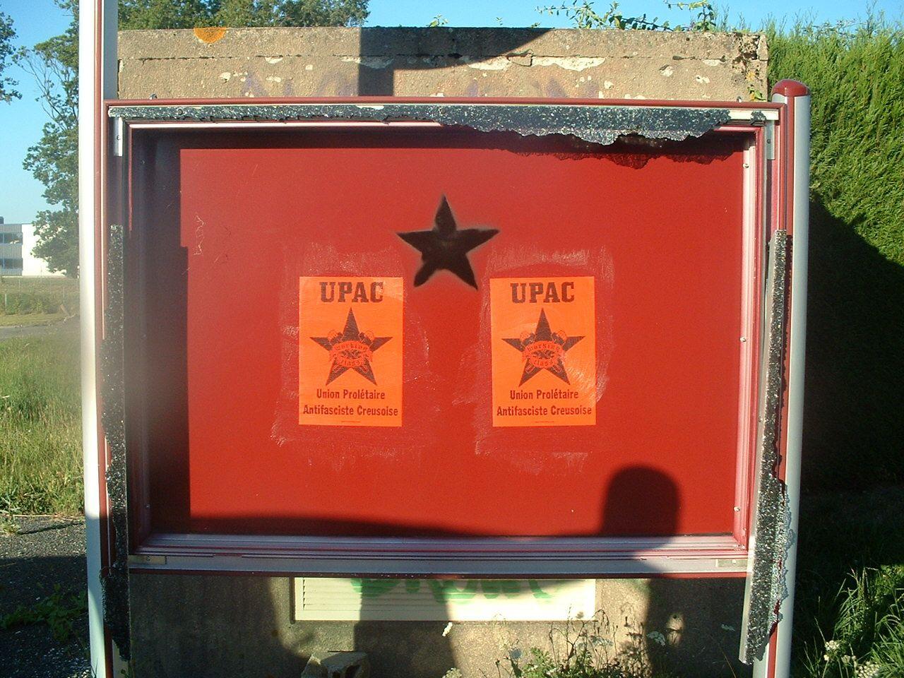 Campagne urbaine de l'UPAC à La Souterraine :