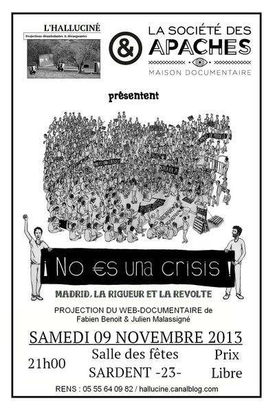 Halluciné : projection du 9 novembre, &quot&#x3B;No es una crisis&quot&#x3B;.