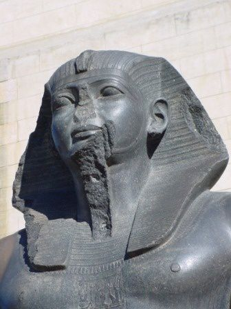 You see, how the Greeks/Persian invaders tried to cover/hide the racial origin of the Pharaohs, people that sculpted themselves as they were : Black people, Africans, this statue is today just a decoration of the parks in the Arab republic of Egypt